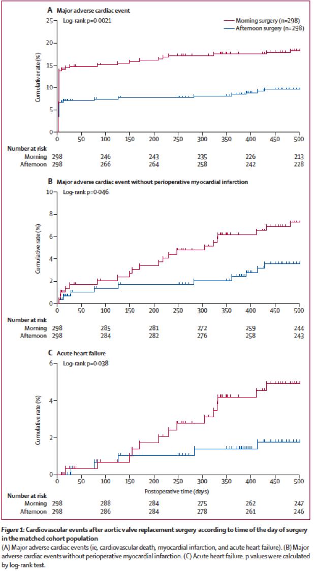[Lancet在线发表]:下午进行心脏手术可能具有围手术期心肌保护作用