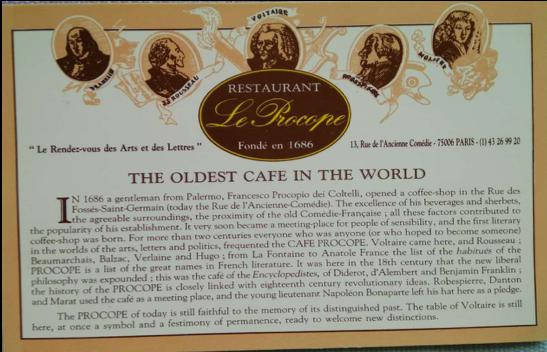 [陈德昌教授]:巴黎第一家咖啡店和法国大革命(四)