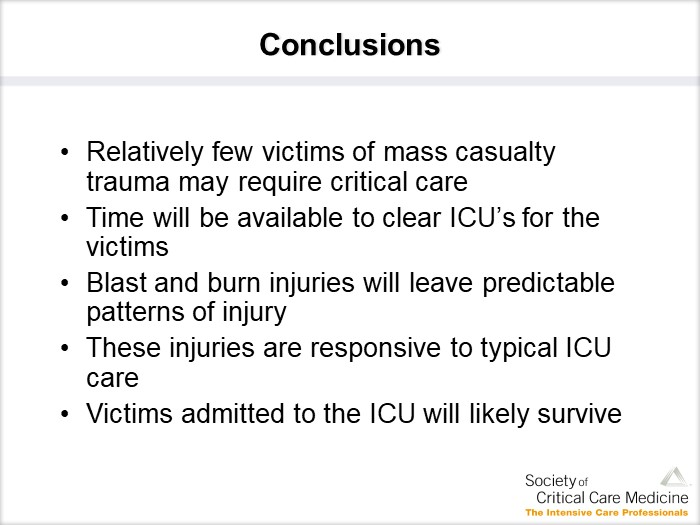 [CME课件]: HDM(Hospital Mass-Casualty Disaster Management)- Mass Casualty Trauma